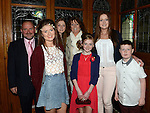 Clara Fay who was confirmd in St Michael's church Clogherhead pictured with her family. Photo:Colin Bell/pressphotos.ie