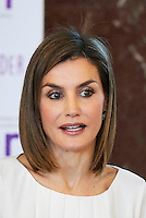03 March 2016 - Madrid, Spain - Queen Letizia during the event to support the Spanish Federation of Rare Diseases (FEDER) at the CSIC headquaters (Council for Scientific Research) in Madrid. Photo Credit: PPE/face to face/AdMedia