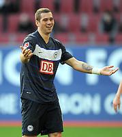FUSSBALL   1. BUNDESLIGA  SAISON 2011/2012   23. Spieltag FC Augsburg - Hertha BSC Berlin          25.02.2012 Pierre - Michel Lasogga (Hertha BSC Berlin)