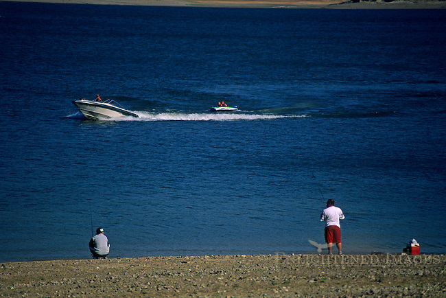 Recreational Boating on Lake Mendocino, Mendocino County, California