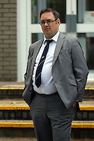 Pembrokeshire Herald newspaper editor Thomas Sinclair who is charged with contempt of court for naming a teenage defendant and has appeared at Llanelli Magistrates Court in Carmarthenshire, Wales, UK. Thursday 08 September 2016