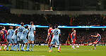 Xabi Alonso of Bayern Munich scores equalising goal from a free kick - UEFA Champions League group E - Manchester City vs Bayern Munich - Etihad Stadium - Manchester - England - 25rd November 2014  - Picture Simon Bellis/Sportimage