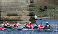 Mortlake/Chiswick, GREATER LONDON. United Kingdom. Wallingford Rowing Club. W.MasC.8+, during the 2017 Vesta Veterans Head of the River Race, The Championship Course, Putney to Mortlake on the River Thames.<br /> <br /> <br /> Sunday  26/03/2017<br /> <br /> [Mandatory Credit; Peter SPURRIER/Intersport Images]