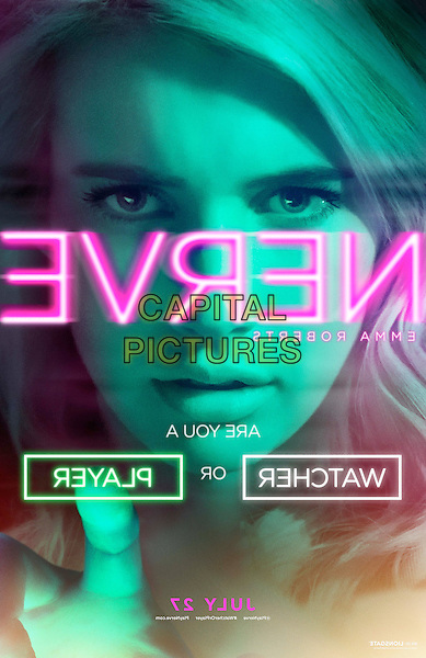 Nerve (2016) <br /> Teaser Poster - Emma Roberts<br /> *Filmstill - Editorial Use Only*<br /> CAP/KFS<br /> Image supplied by Capital Pictures