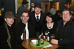 Roger Lawler, Mark McDonagh, Richard Kiely, Hilary Lawler and Peter Loftus at the Burlesque Show in the Droichead Arts Centre....Photo NEWSFILE/Jenny Matthews.(Photo credit should read Jenny Matthews/NEWSFILE)....This Picture has been sent you under the condtions enclosed by:.Newsfile Ltd..The Studio,.Millmount Abbey,.Drogheda,.Co Meath..Ireland..Tel: +353(0)41-9871240.Fax: +353(0)41-9871260.GSM: +353(0)86-2500958.email: pictures@newsfile.ie.www.newsfile.ie.FTP: 193.120.102.198.
