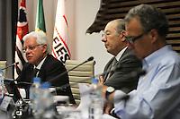ATENCAO EDITOR: FOTO EMBARGADA PARA VEICULO INTERNACIONAL - SAO PAULO, SP, 10 DEZEMBRO 2012 - A INFLUENCIA DO BRASIL NO SISTEMA INTERNACIONAL SOFT-POWER -  O ministro Moreira Franco participou do debate sobre o soft power. A iniciativa, idealizada em conjunto com a Secretaria de Assuntos Estrategicos (SAE) da Presidencia da Republica, tem como objetivo a atuacao do Brasil no cenario internacional, com vistas a identificar a capacidade de o pais influenciar acoes politicas sem o uso da forca ou outra forma de coercao, porem lançando mao de estrategias de cooperacao - conceito conhecido como soft-power, na FIESP nessa terca, 11. (FOTO: LEVY RIBEIRO / BRAZIL PHOTO PRESS)