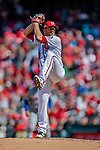 5 April 2018: Washington Nationals pitcher Brandon Kintzler on the mound against the New York Mets at Nationals Park in Washington, DC. The Mets defeated the Nationals 8-2 in the first game of their 3-game series. Mandatory Credit: Ed Wolfstein Photo *** RAW (NEF) Image File Available ***
