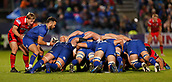 29th September 2017, RDS Arena, Dublin, Ireland; Guinness Pro14 Rugby, Leinster Rugby versus Edinburgh; Jamison Gibson-Park of Leinster putting the ball into the scrum