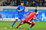 30.11.2019, PreZero-Arena, Sinsheim, GER, 1. FBL, TSG 1899 Hoffenheim vs. Fortuna Duesseldorf, <br /> <br /> DFL REGULATIONS PROHIBIT ANY USE OF PHOTOGRAPHS AS IMAGE SEQUENCES AND/OR QUASI-VIDEO.<br /> <br /> im Bild: Florian Grillitsch (TSG 1899 Hoffenheim #11), Kaan Ayhan (Fortuna Duesseldorf #5)<br /> <br /> Foto © nordphoto / Fabisch