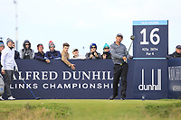 Padraig Harrington (IRL) on the 16th tee during Round 3 of the Alfred Dunhill Links Championship 2019 at St. Andrews Golf CLub, Fife, Scotland. 28/09/2019.<br /> Picture Thos Caffrey / Golffile.ie<br /> <br /> All photo usage must carry mandatory copyright credit (© Golffile | Thos Caffrey)