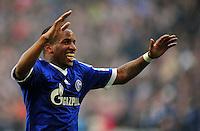 FUSSBALL   1. BUNDESLIGA   SAISON 2012/2013    27. SPIELTAG FC Schalke 04 - TSG 1899 Hoffenheim                       30.03.2013 Jefferson Farfan (FC Schalke 04) jubelt nach dem 3:0