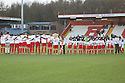 . Stevenage v Crawley Town - npower League 1 -  Lamex Stadium, Stevenage - 15th December, 2012. © Kevin Coleman 2012..The teams observe a minute's silence for former Stevenage player Mitchell Cole who passed away on 1st December . Stevenage v Crawley Town - npower League 1 -  Lamex Stadium, Stevenage - 15th December, 2012. © Kevin Coleman 2012..