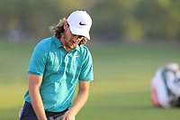 Tommy Fleetwood (ENG) on the 18th fairway during the 1st round of the DP World Tour Championship, Jumeirah Golf Estates, Dubai, United Arab Emirates. 15/11/2018<br /> Picture: Golffile | Fran Caffrey<br /> <br /> <br /> All photo usage must carry mandatory copyright credit (&copy; Golffile | Fran Caffrey)