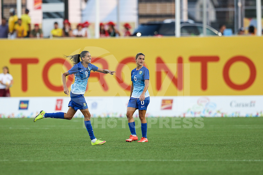 HAMILTON, CANADA, 25.07.2015 - PAN-FUTEBOL - Andressa Alves do Brasil durante partida contra a Colombia em partida da final do futebol feminino nos jogos Pan-americanos no Estadio Tim Hortons em Hamilton no Canadá neste sábado, 25. (Foto: William Volcov/Brazil Photo Press)