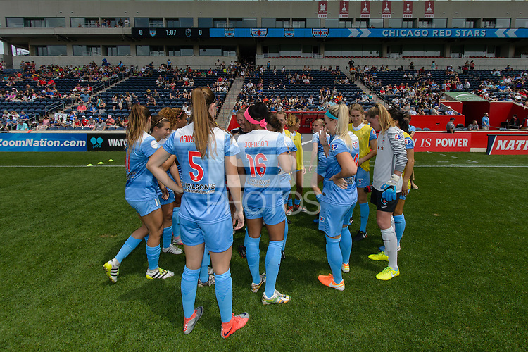 Bridgeview, IL - Sunday June 04, 2017: Chicago Red Stars during a regular season National Women's Soccer League (NWSL) match between the Chicago Red Stars and the Seattle Reign FC at Toyota Park. The Red Stars won 1-0.