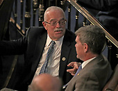 United States Representative Gerry Connolly (Democrat of Virginia) in conversation on the floor prior to US President Donald J. Trump delivering his second annual State of the Union Address to a joint session of the US Congress in the US Capitol in Washington, DC on Tuesday, February 5, 2019.<br /> Credit: Alex Edelman / CNP