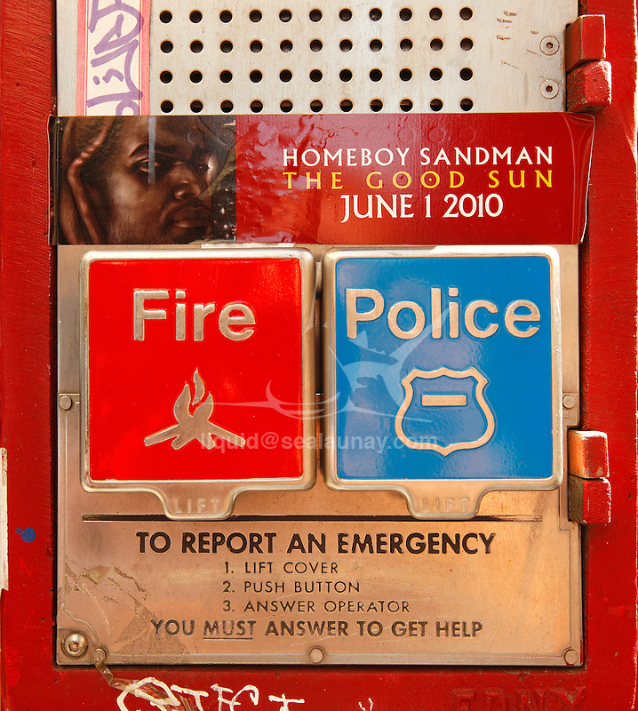 Alarm, Manhattan, New York City.