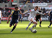 Pictured: Mark Gower of Swansea City in action <br /> Re: Coca Cola Championship, Swansea City FC v Cardiff City at the Liberty Stadium. Swansea, south Wales, Sunday 30 November 2008.<br /> Picture by D Legakis Photography / Athena Picture Agency, Swansea 07815441513