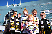 24th March 2018, McDiarmid Park, Perth, Scotland; Scottish Football Challenge Cup Final, Dumbarton versus Inverness Caledonian Thistle; Young Dumbarton fans up for the match