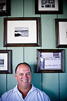 Vince O'Neal at the Pony Island Restaurant on Ocracoke.