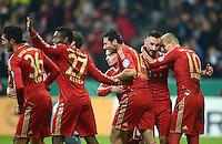 FUSSBALL  DFB POKAL       SAISON 2012/2013 FC Bayern Muenchen - 1 FC Kaiserslautern  31.10.2012 Emre Can, David Alaba, Claudio Pizarro, Diego Contento und Arjen Robben (v. li., FC Bayern Muenchen)