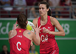 Womans Netball - Wales v Fiji  <br /> <br /> *This image must be credited to Ian Cook Sportingwales and can only be used in conjunction with this event only*<br /> <br /> 21st Commonwealth Games - Netball -  Day 8 - 12\04\2018 - Gold Coast Exhibition centre <br />  - Gold Coast City - Australia