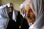 Druze Sheikhs gather during an annual rally protesting against the 1981 Israeli annexation of the Golan, in the Druze village of Majdal Shams, Golan Heights.