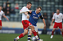 Michael Bostwick of Stevenage and Brett Ormerod of Rochdale tussle.Rochdale v Stevenage - npower League 1 - Spotland, Rochdale - 14th January, 2012.© Kevin Coleman 2012