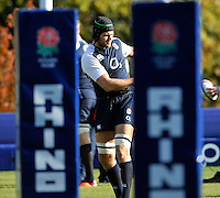 Bagshot, England.Tom Palmer of England during the England training session held at Pennyhill Park on November 8, 2012 in Bagshot, England.