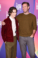 Timothee Chalamet &amp; Armie Hammer at the London Film Festival 2017 photocall for the film &quot;Call Me by Your Name&quot; at the Mayfair Hotel, London, UK. <br /> 09 October  2017<br /> Picture: Steve Vas/Featureflash/SilverHub 0208 004 5359 sales@silverhubmedia.com