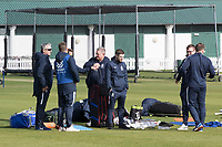 Stuart Law, Head Coach, Middlesex in conversation with his team during Middlesex CCC vs Lancashire CCC, Specsavers County Championship Division 2 Cricket at Lord's Cricket Ground on 11th April 2019