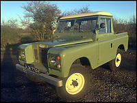 BNPS.co.uk (01202 558833)Pic: H&amp;HClassics/BNPS<br /> <br /> The Landrover used by Mr McGregor in the new Hollywood film Peter Rabbit has emerged for sale for &pound;15,000.<br /> <br /> The pastel green Landrover was used by the villainous farmer for various scenes shot in the Lake District.<br /> <br /> Mr McGregor, played by Irish actor Domhall Gleeson, can be seen driving it into a warehouse in Windemere with Peter and the other rabbits clinging on to the bottom of it.<br /> <br /> The animated film of the classic Beatrix Potter books, which is released in the UKn on March 16, also stars James Corden and Margot Robbie who provide the voice-overs for Peter Rabbit and Flopsy respectively.