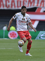 BOGOTÁ -COLOMBIA, 12-09-2015. Larry Vasquez jugador de Patriotas FC en acción durante el encuentro con Independiente Santa Fe por la fecha 12 de la Liga Aguila II 2015 jugado en el estadio Nemesio Camacho El Campín de la ciudad de Bogotá./ Larry Vasquez player of Patriotas FC in action during the match against Independiente Santa Fe for the 12th date of the Aguila League II 2015 played at Nemesio Camacho El Campin stadium in Bogotá city. Photo: VizzorImage/ Gabriel Aponte / Staff