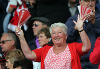 A Southampton supporter during the Premier League match between Southampton and Swansea City at the St Mary's Stadium, Southampton, England, UK. Saturday 12 August 2017