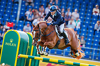 AUS-Andrew Hoy rides Vassily de Lassos during the SAP Cup - CICO4*-S Nations Cup Eventing Showjumping. Interim-10th. 2019 GER-CHIO Aachen Weltfest des Pferdesports. Friday 19 July. Copyright Photo: Libby Law Photography