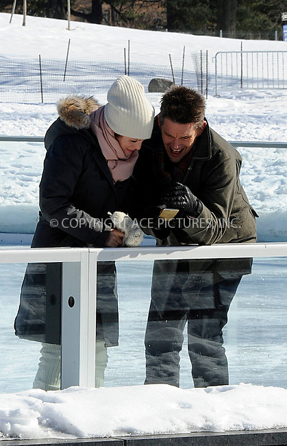 WWW.ACEPIXS.COM<br /> <br /> February 24 2015, New York City<br /> <br /> Actors Julianne Moore and Ethan Hawke shoot a scene at an ice rink for the new movie 'Maggie's Plan' on February 24 2015 in New York City<br /> <br /> By Line: Curtis Means/ACE Pictures<br /> <br /> <br /> ACE Pictures, Inc.<br /> tel: 646 769 0430<br /> Email: info@acepixs.com<br /> www.acepixs.com