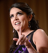 Saturday Night Live's comedian Cecily Strong speaks during the annual White House Correspondent's Association Gala at the Washington Hilton hotel April 25, 2015 in Washington, D.C. The dinner is an annual event attended by journalists, politicians and celebrities.<br /> Credit: Olivier Douliery / Pool via CNP