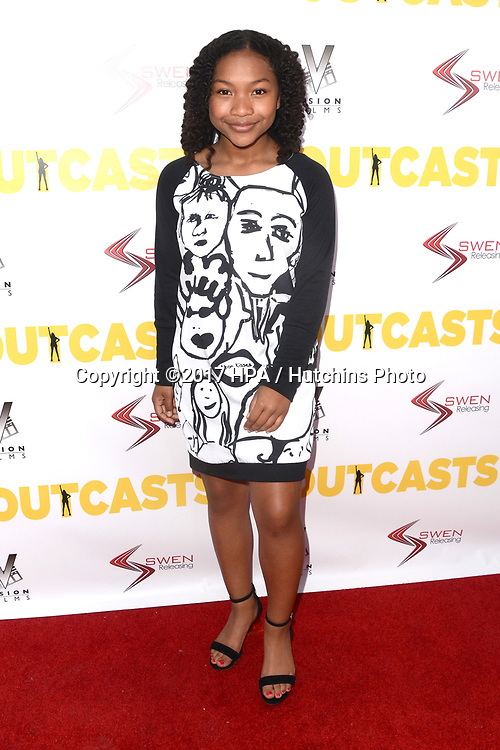 "LOS ANGELES - APR 13:  Laya DeLeon Hayes at the ""The Outcasts"" Premiere at the Landmark Regent Theater on April 13, 2017 in Westwood, CA"