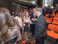 Photo from the Choi Auditorium Dedication on April 26, 2014 at Occidental College. (Photo by Marc Campos, Occidental College Photographer) Special guest Howard Dean, former Governor of Vermont.
