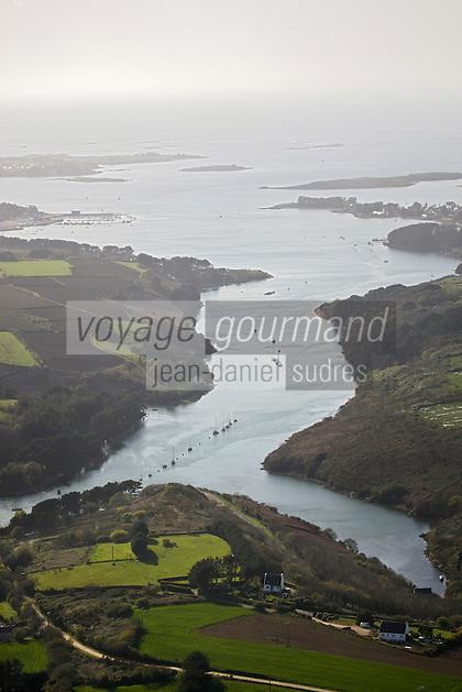 Europe/France/Bretagne/29/Finistère/Env de Plouguernau: Vue aérienne de L'Aber Wrac'h