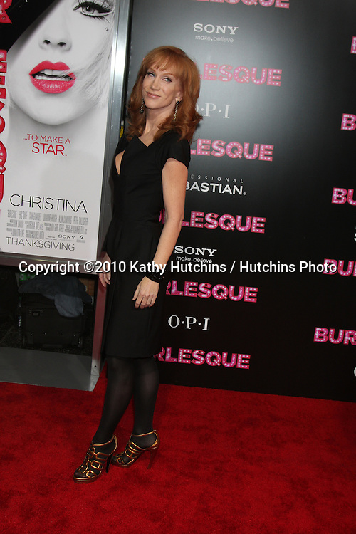 "LOS ANGELES - NOV 15:  Kathy Griffin arrives at the ""Burlesque"" LA Premiere  at Grauman's Chinese Theater on November 15, 2010 in Los Angeles, CA"
