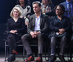 Carole Rothman, Tony Goldwyn, Lynne Nottage during the Second Stage Theater Broadway lights up the Hayes Theatre at the Hayes Theartre on February 5, 2018 in New York City.