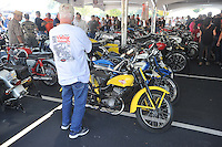 NWA Democrat-Gazette/MICHAEL WOODS • @NWAMICHAELW<br /> The Second Annual Ozark Vintage Motorcycle Association BBB Vintage Bike Show and Saturday September 26, 2015 at Arrest Ballpark in Springdale. The 16th annual Bikes, Blues and BBQ Motorcycle Rally runs through Saturday on Dickson Street, Baum Stadium and the Washington County Fairgrounds in Fayetteville and all day Saturday at Arvest Ballpark in Springdale.<br /> The 16th annual Bikes, Blues and BBQ Motorcycle Rally runs through Saturday on Dickson Street, Baum Stadium and the Washington County Fairgrounds in Fayetteville and all day Saturday at Arvest Ballpark in Springdale.