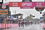 Maglia Ciclamino German Champion Pascal Ackermann (GER) Bora-Hansgrohe outsprints Fernando Gaviria (COL) UAE Team Emirates to win a very wet Stage 5 of the 2019 Giro d'Italia, running 140km from Frascati to Terracina, Italy. 15th May 2019<br /> Picture: Massimo Paolone/LaPresse | Cyclefile<br /> <br /> All photos usage must carry mandatory copyright credit (© Cyclefile | Massimo Paolone/LaPresse)