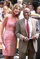 NEW YORK CITY, NY- July 13, 2012: Savannah Guthrie and Al Roker on NBC's Today Show Toyota Concert Series in New York City. © RW/MediaPunch Inc. /*NORTEPHOTO*<br />