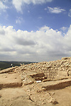 Remains of the wall at Hurvat Eked, a fortress from the Hellenistic period, the fortress was also used by the rebels during the Bar Kokhva revolt against the Romans