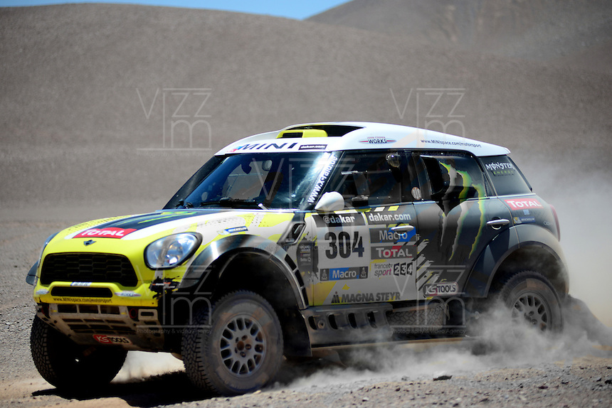 DESIERTO CHILENO -17-01-2014. Nani Roma conduce por el desierto chileno durante su participacion en el Rally Dakar 2014. Nani Roma leads the Chilean desert duranmte your particupacion in 2014 Dakar Rally. Photo: VizzorImage / Diego Bustamante / Contribuidor
