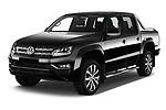 2017 Volkswagen Amarok Aventura 4 Door Pick Up angular front stock photos of front three quarter view