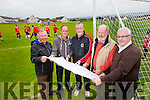 Announcing the funding for the Sports Capital Programme  were Joe Hennebery, Trustee, Martin Conway, Club Secretary, Colm McLoughlin, Chairperson, Christy Leahy, Trustee and Elisha Dowling, Trustee