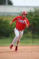 Philadelphia Phillies Jack Zoellner (28) running the bases during an Instructional League game against the Toronto Blue Jays on September 30, 2017 at the Carpenter Complex in Clearwater, Florida.  (Mike Janes/Four Seam Images)